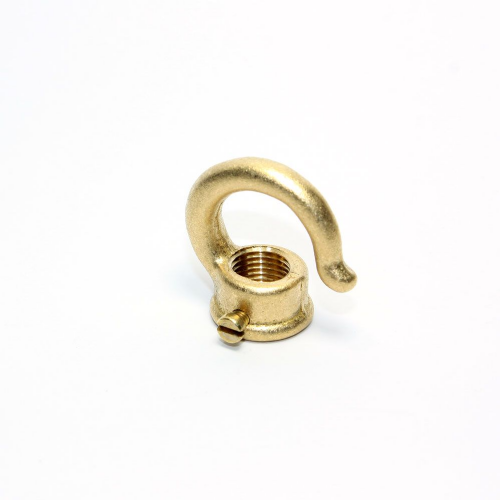 Raw Finish Cast Solid Brass Female Hook Side Screw M10x 1mm Thread